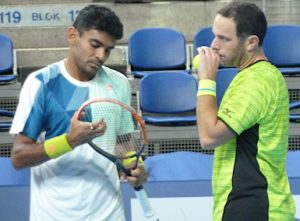 Divij Sharan & Scott Lipsky at European Open Tennis Antwerp 2017
