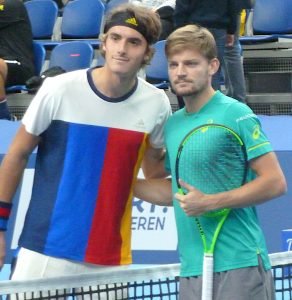 Stefanos Tsitsipas and David Goffin at European Open Tennis Antwerp 2017